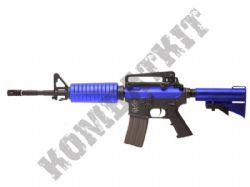 Ares M4 A1 S Class AEG Electric Airsoft BB Machine Gun Black and Blue Polymer Body